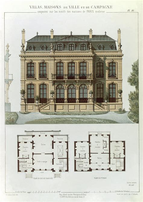 suburban house plans parisian suburban house and plans drawing by leon isabey