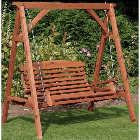 wooden swing seats uk apex garden wooden swing seat the garden factory