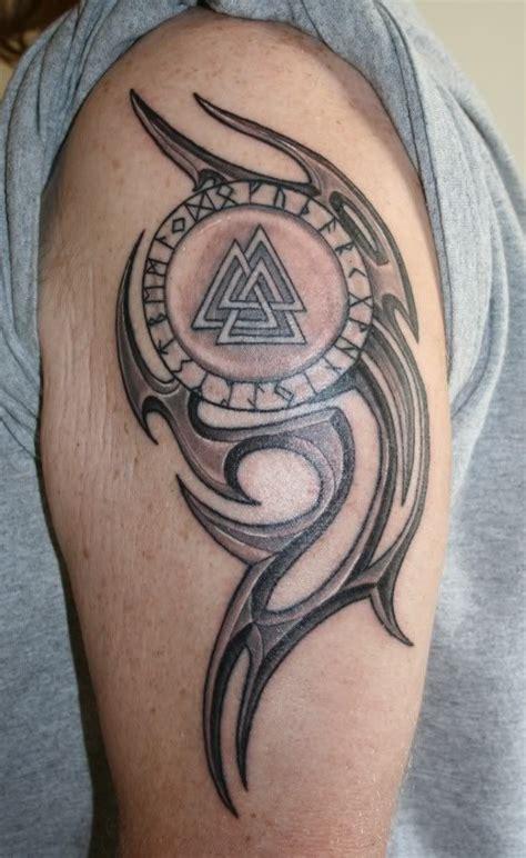 epic tribal tattoos valknut ideas tatuajes tribales