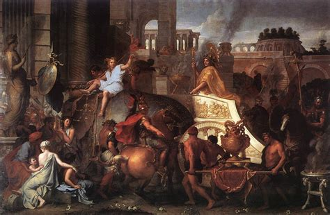 entry of into babylon by le brun charles