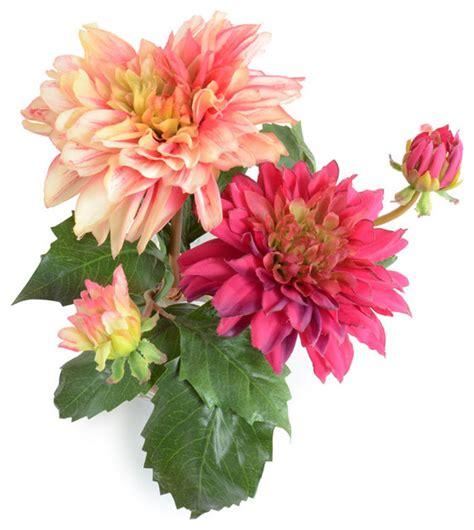 dahlia arrangement traditional artificial flower arrangements by new growth designs