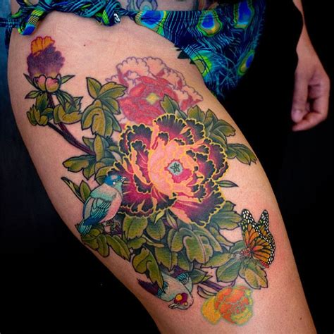 flower thigh tattoo flower thigh tattoosjpg pictures to pin on
