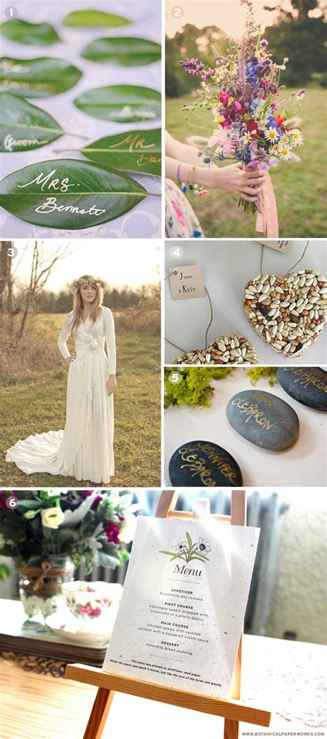 Planning An Environment Friendly Wedding by Inspiration For Eco Friendly Weddings Botanical