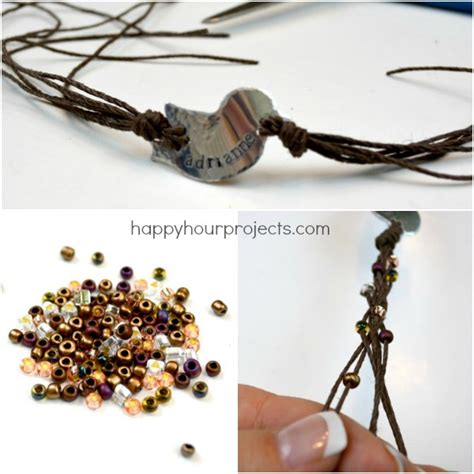 Hemp Braiding Techniques - bird nest sted and braided hemp bracelet happy hour
