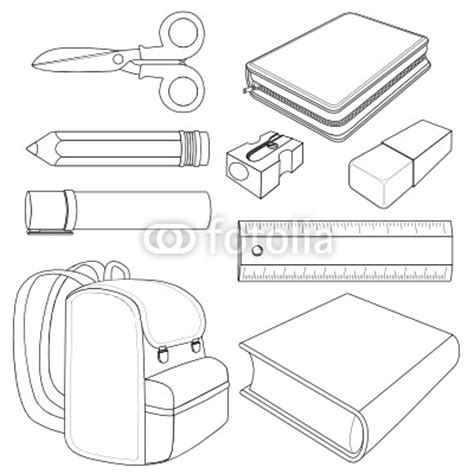 coloring pages for kids classroom objects classrom objects colouring pages