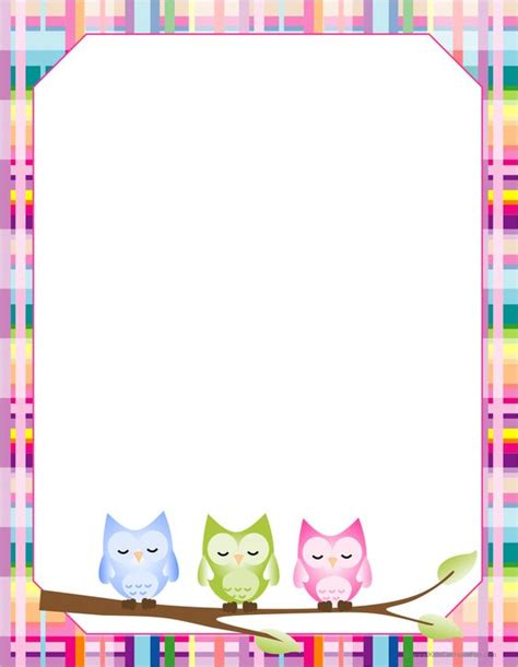 free printable owl stationery owl blank paper writing papers paper and schools