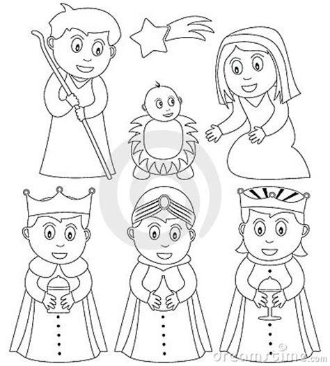 coloring christmas nativity royalty  stock photography