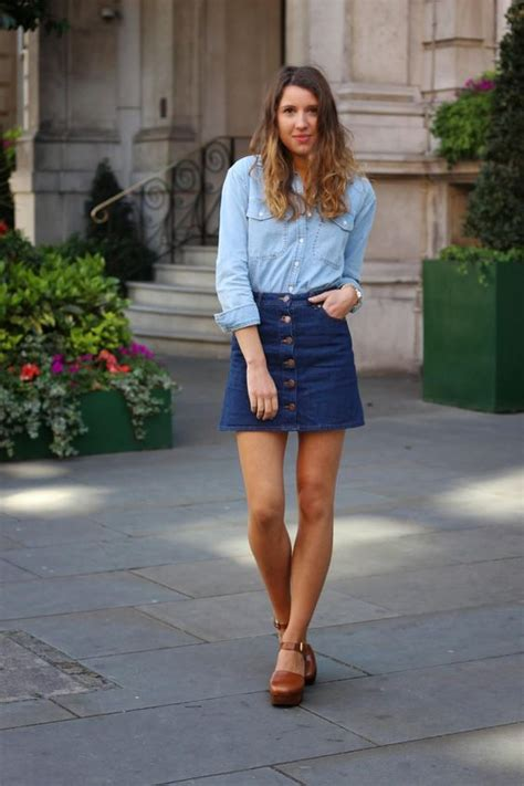 denim skirts that never go out of fashion