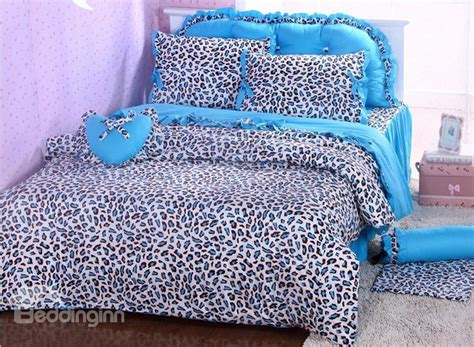 cheetah bed set blue cheetah bedding gnewsinfo com