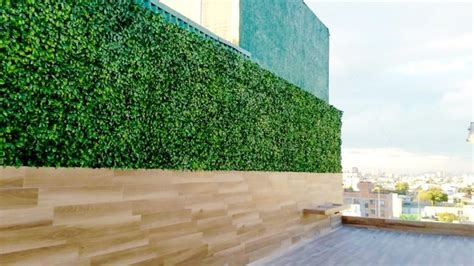 Balcony, Terrace Privacy Fence Artificial Hedge Panels Modern Patio Houston by