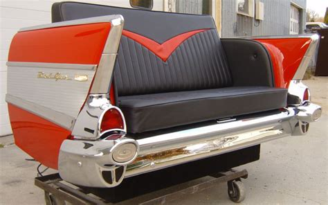 1957 chevy couch new retro cars restored classic car furniture and decor