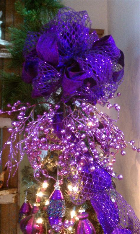 purple christmas tree topper christmas pinterest