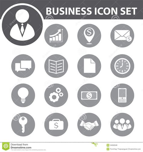vector business icons set royalty free stock photos image 1095468 business icon royalty free stock photos image 34692948