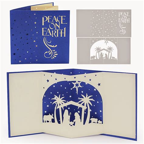 Pop Up Nativity Card Template by The Non Crafty Crafter Cricut Resizing The Nativity Pop