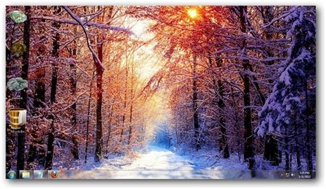 themes for windows 7 winter the four seasons theme for windows 7 and windows 8 nature