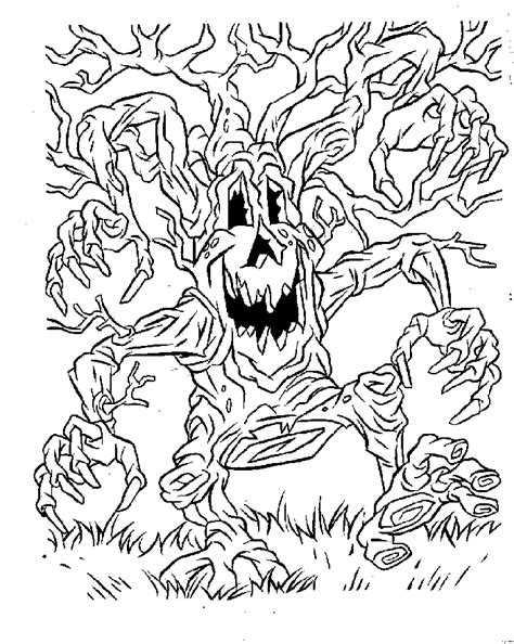 scary halloween coloring pages coloring home