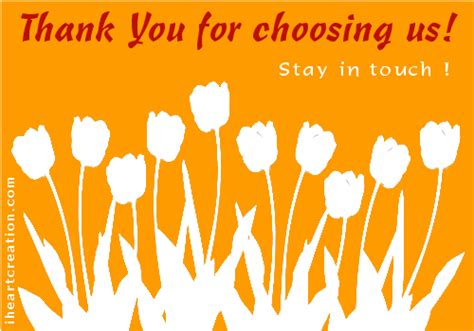 Thank You Letter Keep In Touch For Choosing Us Free Stay In Touch Ecards Greeting