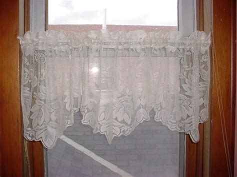 leaf pattern lace curtains earth alone earthrise book 1 valances white linen