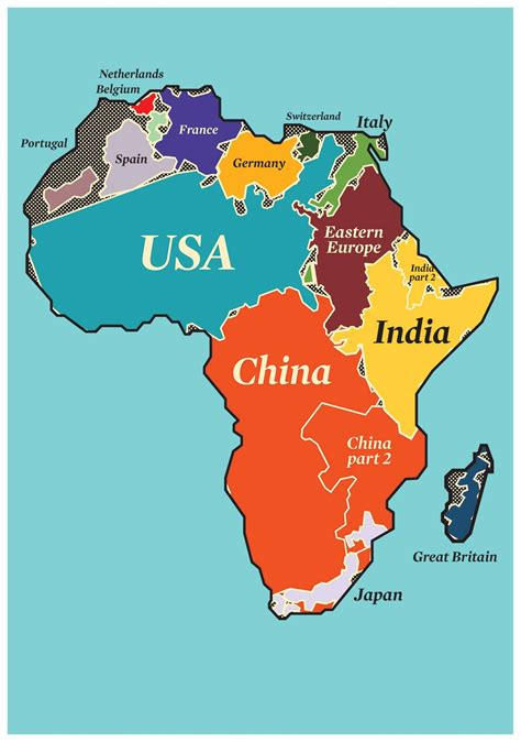 real size of africa compared to other countries south