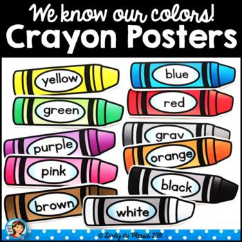 color posters crayon color posters happy and bright classroom decor by