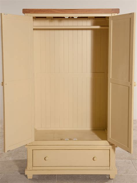 Shabby Chic Oak Bedroom Furniture shabby chic rustic oak and painted wardrobe