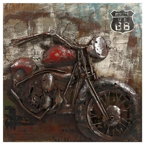 motorcycle dimensional metal eclectic home decor
