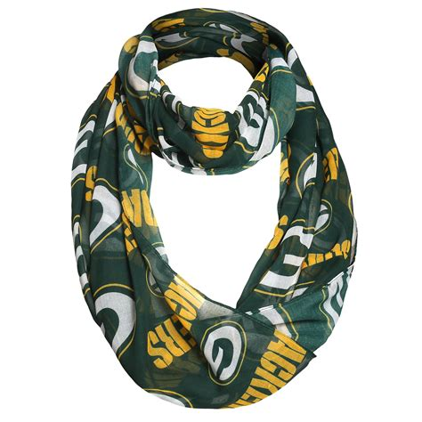 nfl s infinity scarf green bay packers