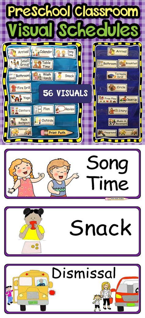 printable visual schedule for kindergarten best 25 daily schedule preschool ideas on pinterest