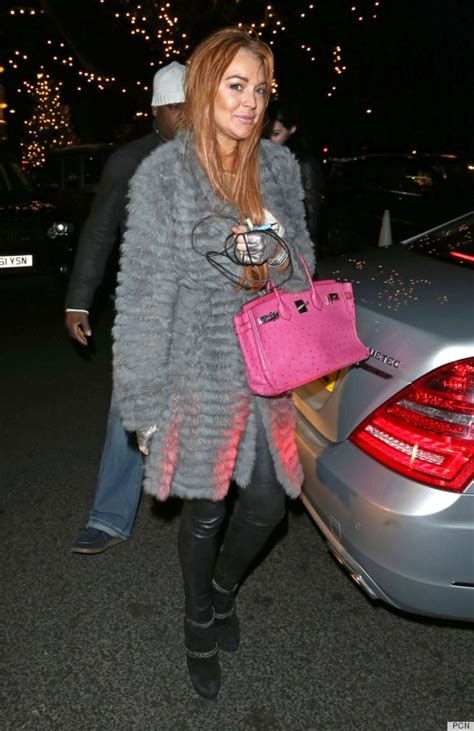 Lindsay Lohan Is A Tiger In The Sack by Lindsay Lohan S Birkin Bag Isn T Exactly Budget Conscious