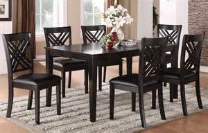 brooklyn dark espresso 7 piece dining room set 18762 standard furniture