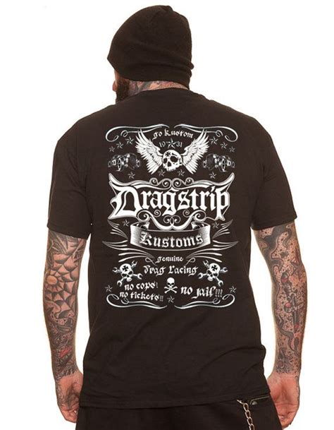 tattoo apparel dragstrip tshirt rod apparel 13 biker
