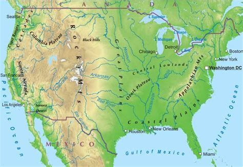 physical geography  map   united states quiz