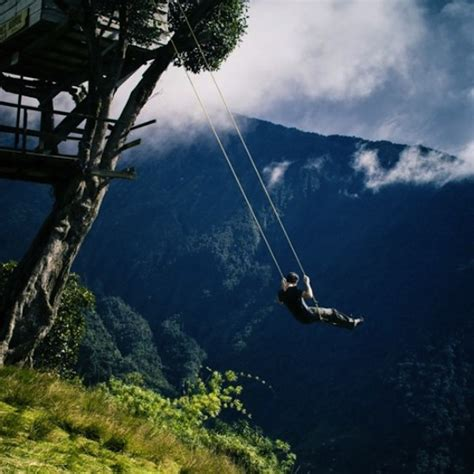 swing at the edge of the world a thrilling swing that sits at the end of the world