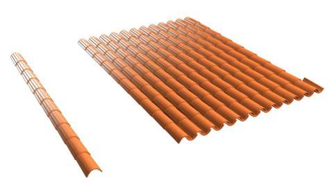 anatomy of a barrel tile roof barrel tile roof 3d model