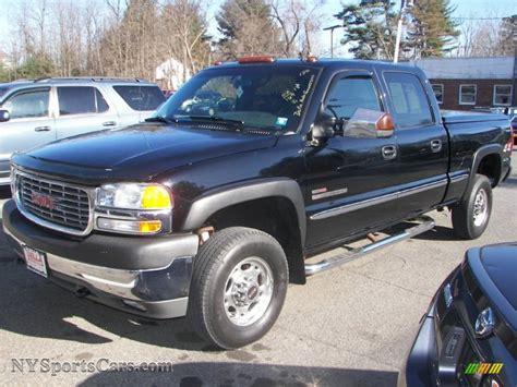 2002 gmc 4x4 2002 gmc 2500hd sle crew cab 4x4 in onyx black