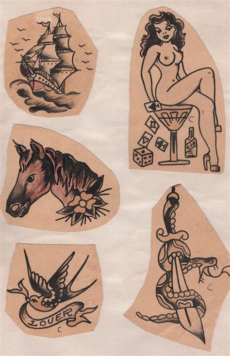 103 best images about vintage tattoo flash on pinterest