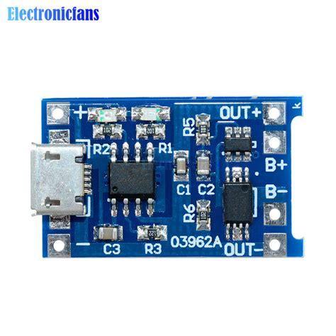 Tp4056 Micro Usb Battery Charging Module 1a 5v Mcigicm aliexpress buy automatic protection 5pcs micro usb 5v 1a 18650 tp4056 lithium battery