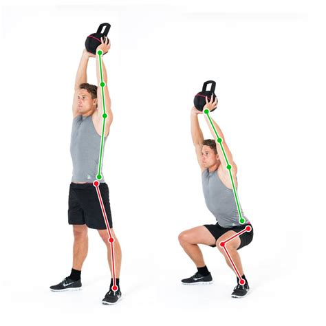 overhead bench squat overhead bench squat kettlebell exercise for the legs and