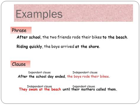 phrase and clause what is the difference ppt