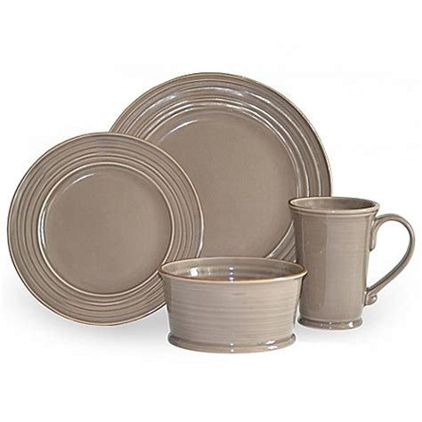 bed bath and beyond dinnerware baum tuscany 16 piece dinnerware set in stone bed bath