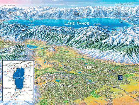 lake tahoe map reno tahoe map of nevada reno visitor
