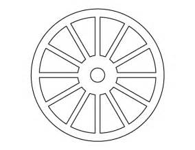 wheel pattern use the printable outline for crafts