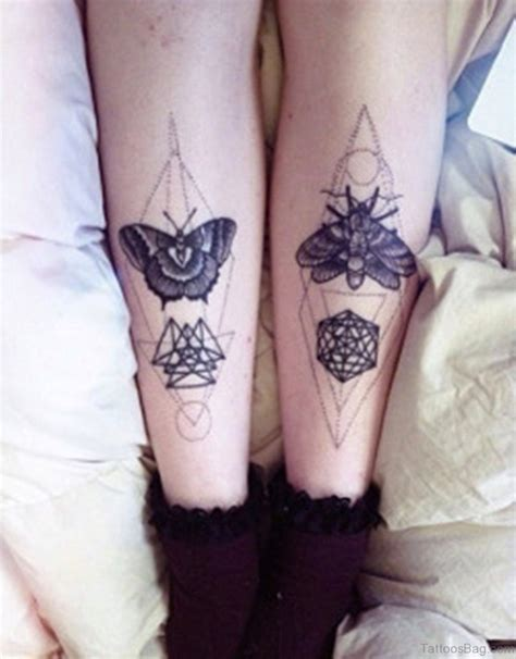 geometry tattoo 50 brilliant geometric tattoos on leg