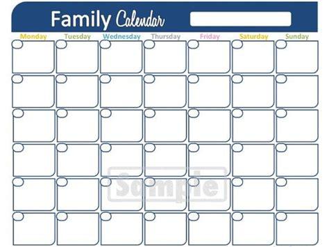 family calendar printable monthly calendar household
