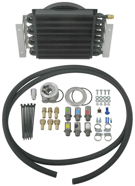 oil cooler fan kit derale 16 pass electra cool remote engine oil cooler kit w