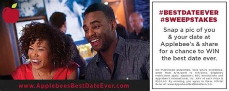 Applebees Sweepstakes - check out applebees bestdateever sweepstakes try their new menu kat balog