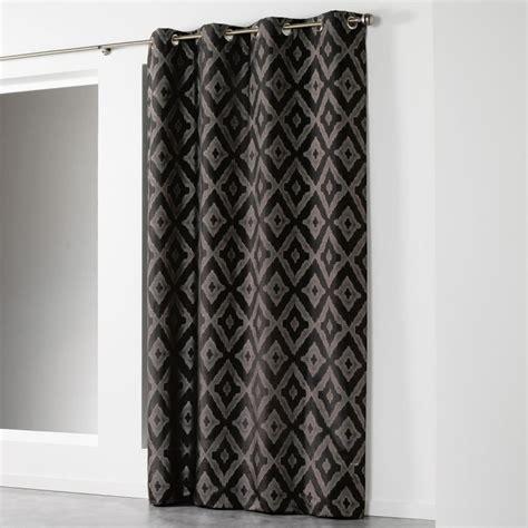 Rideaux Noir Et Argent rideau quot lenox quot 140x260cm argent noir