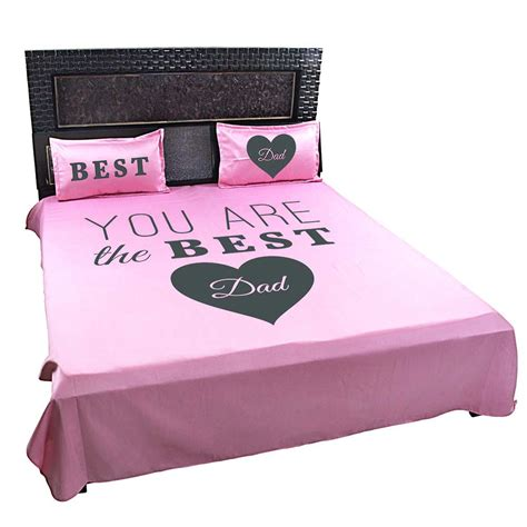 bed sheets and pillow covers best dad bed sheet for father with pillow covers by giftsmate