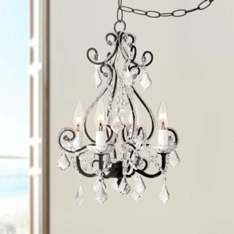 how to swag a chandelier leila black clear swag in chandelier 85093 ls