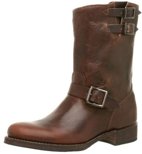frye frye mens brando engineer boot in brown for